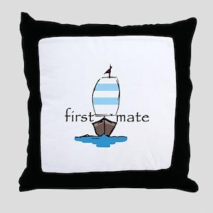 First Mate Throw Pillow