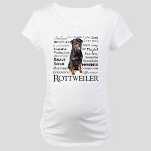 Rottie Traits Maternity T-Shirt