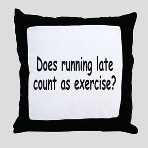 Running Late 1a Throw Pillow