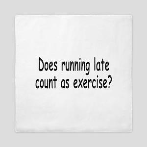 Running Late 1a Queen Duvet