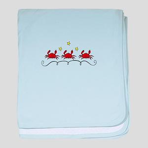Three Crabs baby blanket
