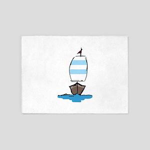 Sail Boat 5'x7'Area Rug