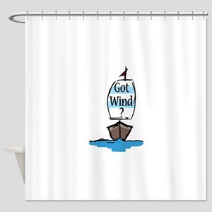 Got Wind? Shower Curtain