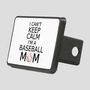 I cant keep calm, I am a baseball mom Hitch Cover
