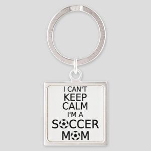 I cant keep calm, I am a soccer mom Keychains
