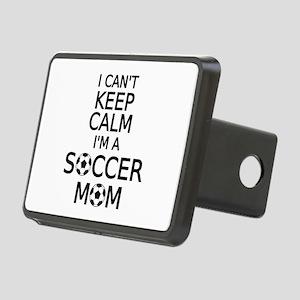 I cant keep calm, I am a soccer mom Hitch Cover