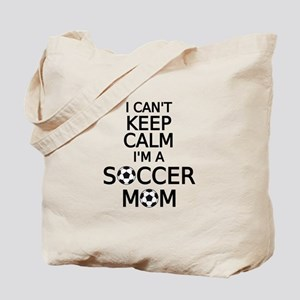 I cant keep calm, I am a soccer mom Tote Bag