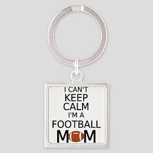I cant keep calm, I am a football mom Keychains