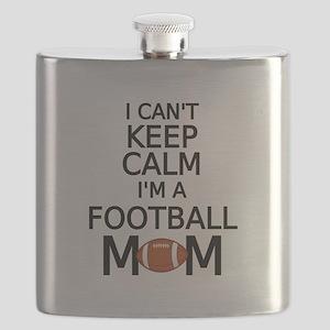 I cant keep calm, I am a football mom Flask