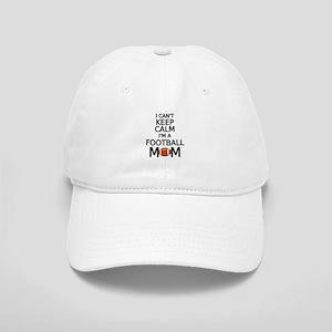 I cant keep calm, I am a football mom Baseball Cap