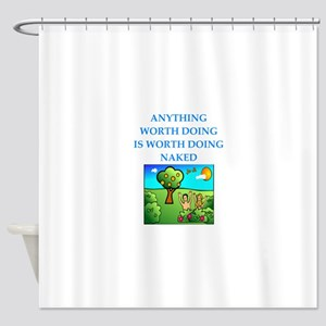 do it naked Shower Curtain