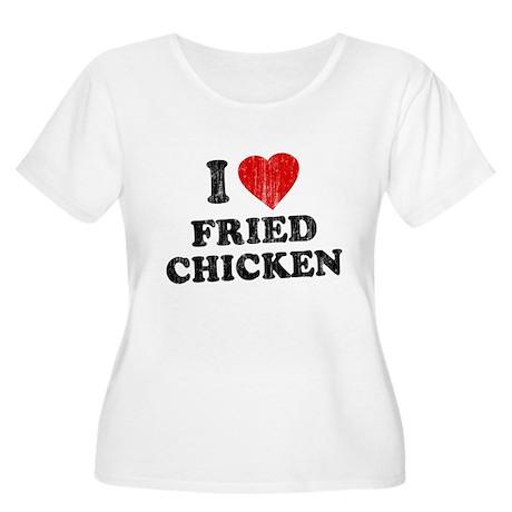 I Love [Heart] Fried Chicken Women's Plus Size Sco