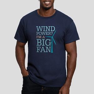 Wind Power Big Fan Men's Fitted T-Shirt (dark)