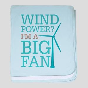 Wind Power Big Fan baby blanket