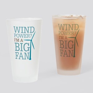 Wind Power Big Fan Drinking Glass
