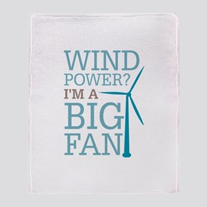 Wind Power Big Fan Throw Blanket