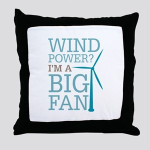 Wind Power Big Fan Throw Pillow