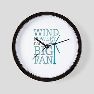 Wind Power Big Fan Wall Clock