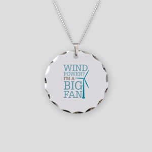 Wind Power Big Fan Necklace Circle Charm