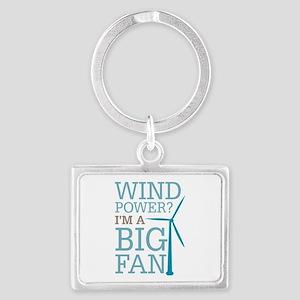 Wind Power Big Fan Landscape Keychain