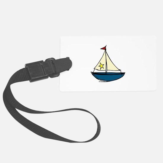 Sail Boat Luggage Tag