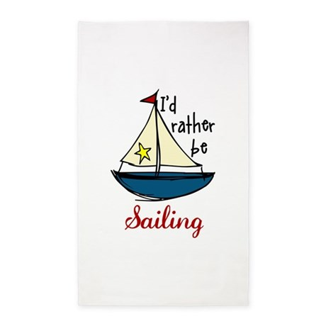 Rather Be Sailing 3'x5' Area Rug