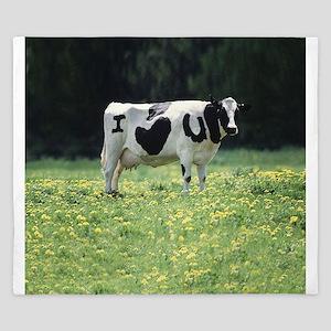 I Love You Cow King Duvet