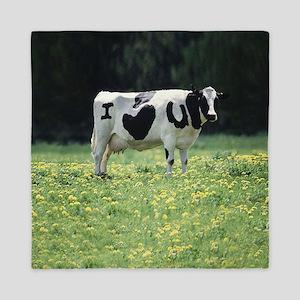 I Love You Cow Queen Duvet