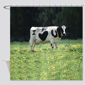 I Love You Cow Shower Curtain