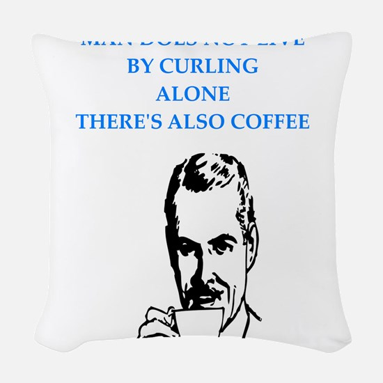 curling Woven Throw Pillow