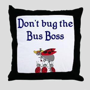 Bus Boss Throw Pillow