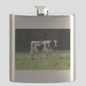 I Love You Cow Flask