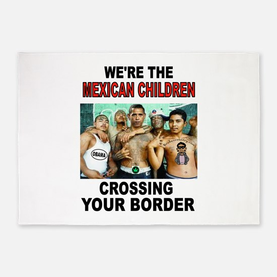 MEXICAN IMMIGRANTS 5'x7'Area Rug