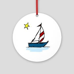 Little Boat Ornament (Round)