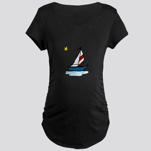 Little Boat Maternity T-Shirt