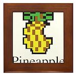 Pineapple. Framed Tile