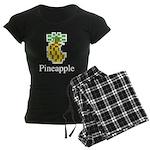 Pineapple. Women's Dark Pajamas