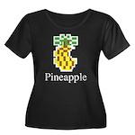 Pineappl Women's Plus Size Scoop Neck Dark T-Shirt