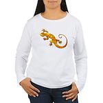 Golden Yellow Gecko Women's Long Sleeve T-Shirt