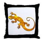 Golden Yellow Gecko Throw Pillow