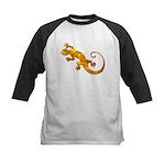 Golden Yellow Gecko Kids Baseball Jersey