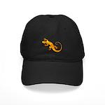 Golden Yellow Gecko Black Cap