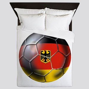 German Soccer Ball Queen Duvet
