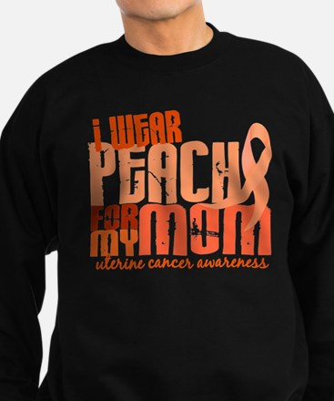 I Wear Peach 6.4 Uterine Cancer Sweatshirt