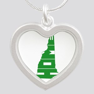 New Hampshire Home Silver Heart Necklace