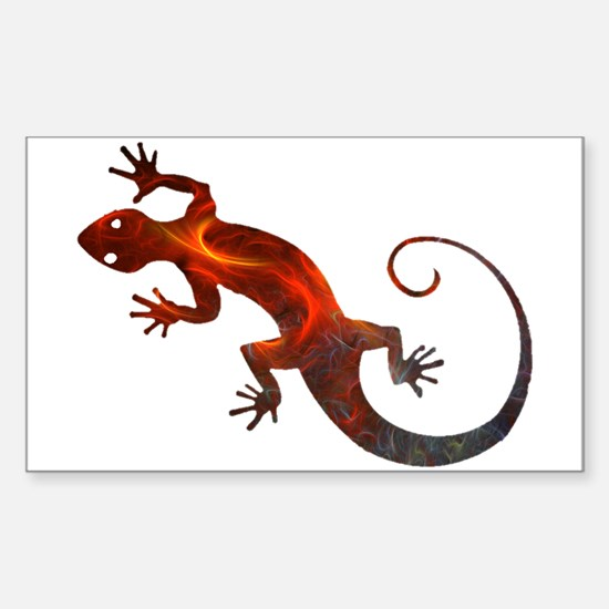 Fire Red Gecko Sticker (Rectangle)