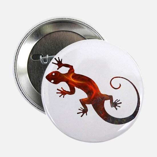 """Fire Red Gecko 2.25"""" Button"""