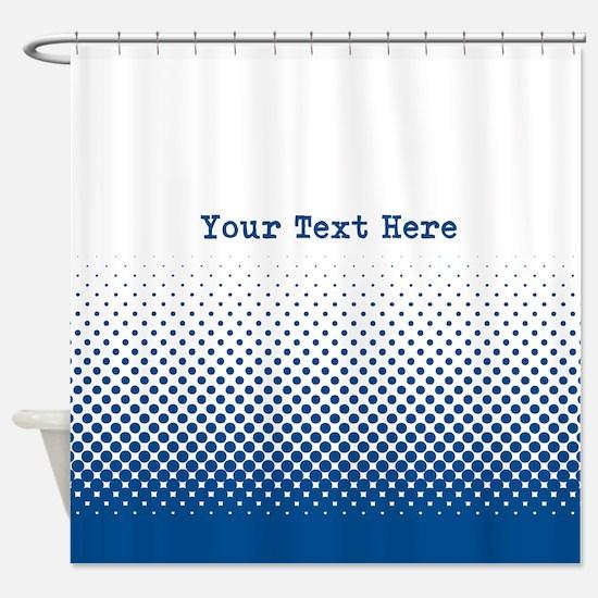 Customize This Blue Pop-Art Shower Curtain