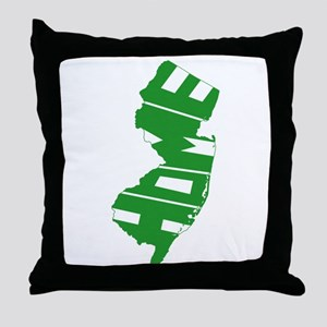 New Jersey Home Throw Pillow