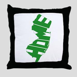 New Jersey Home Throw Pillow